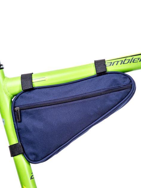 Niebieska materiałowa saszetka rowerowa                              zdj.                              1