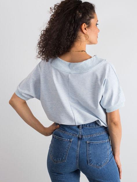 Niebieska melanżowa bluzka Lemontree                              zdj.                              2