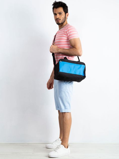 Niebieska męska torba na ramię                              zdj.                              4