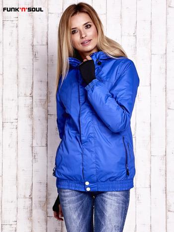 Niebieska ocieplana kurtka narciarska z kapturem FUNK N SOUL                                  zdj.                                  1