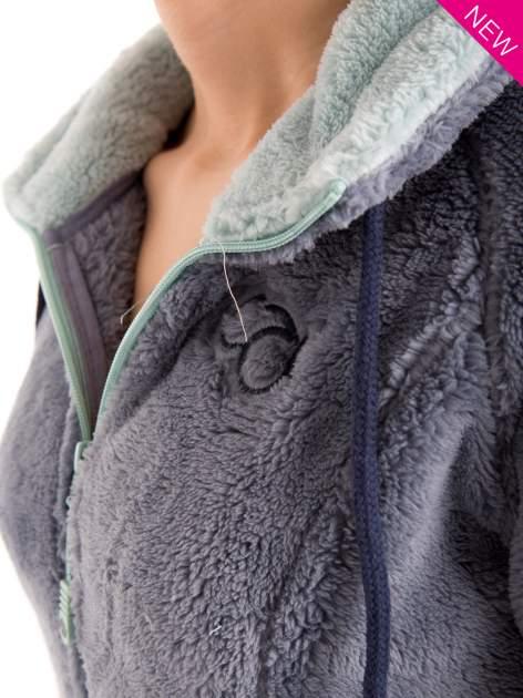 Niebieska polarowa bluza miś z kapturem z uszkami                                  zdj.                                  9