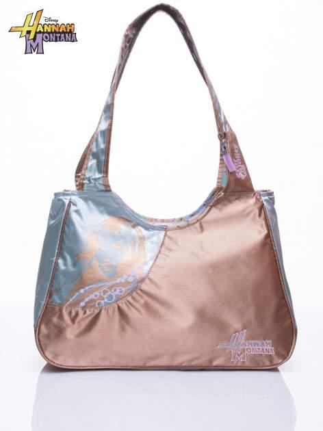 Niebieska satynowa torba szkolna DISNEY Hannah Montana