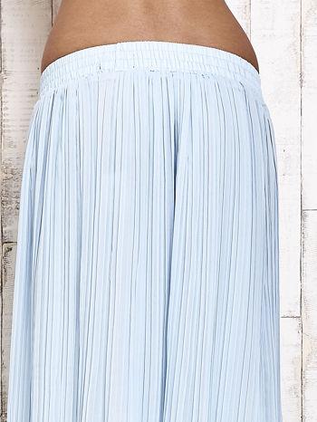 Niebieska spódnica maxi w plisy                                  zdj.                                  5