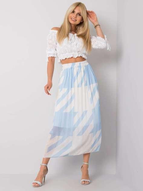 Niebieska spódnica plisowana maxi Isidora