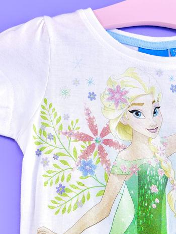 Niebieska sukienka dla dziewczynki z brokatowym paskiem FROZEN                                  zdj.                                  3