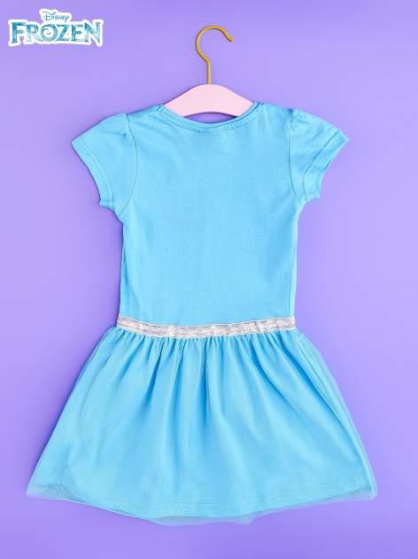 Niebieska sukienka dla dziewczynki z tiulowym wykończeniem FROZEN                                  zdj.                                  2