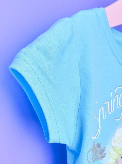 Niebieska sukienka dla dziewczynki z tiulowym wykończeniem FROZEN                                  zdj.                                  6