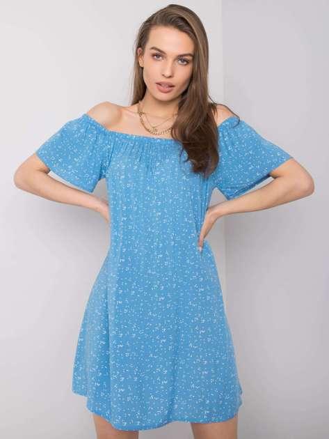 Niebieska sukienka hiszpanka Cindy FRESH MADE