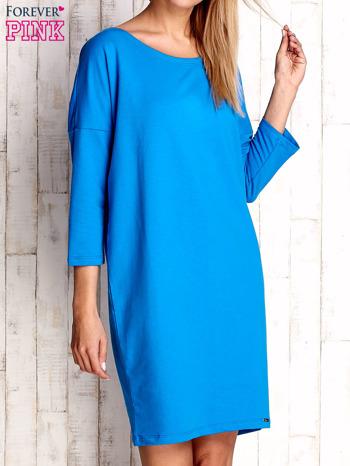 Niebieska sukienka oversize                                  zdj.                                  1