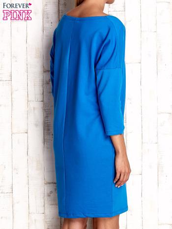 Niebieska sukienka oversize                                  zdj.                                  2