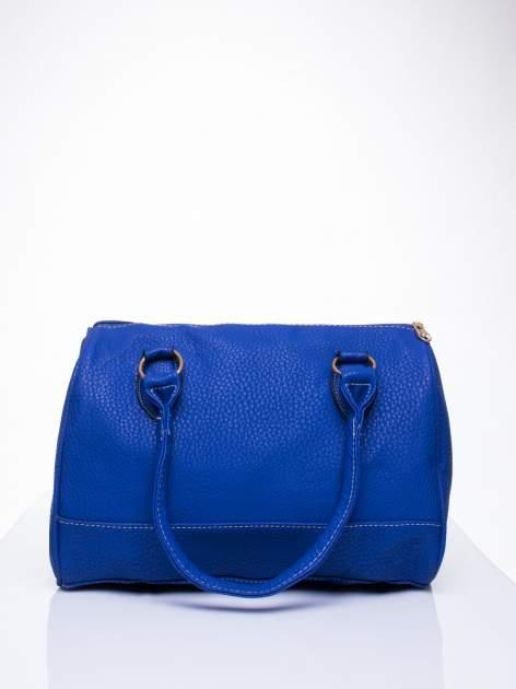 Niebieska torba bowling ze złotymi dżetami                                  zdj.                                  4
