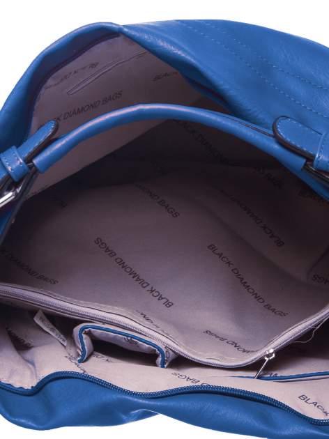 Niebieska torba hobo na ramię                                  zdj.                                  4