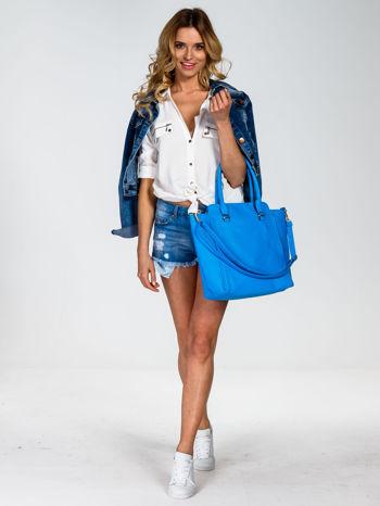 Niebieska torba shopper bag                                  zdj.                                  2