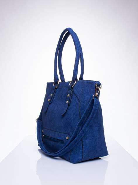 Niebieska torba shopper bag z suwakiem                                  zdj.                                  2