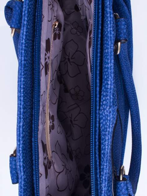 Niebieska torba shopper bag z suwakiem                                  zdj.                                  4