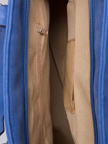 Niebieska torba shopper bag z zawieszką                                  zdj.                                  5