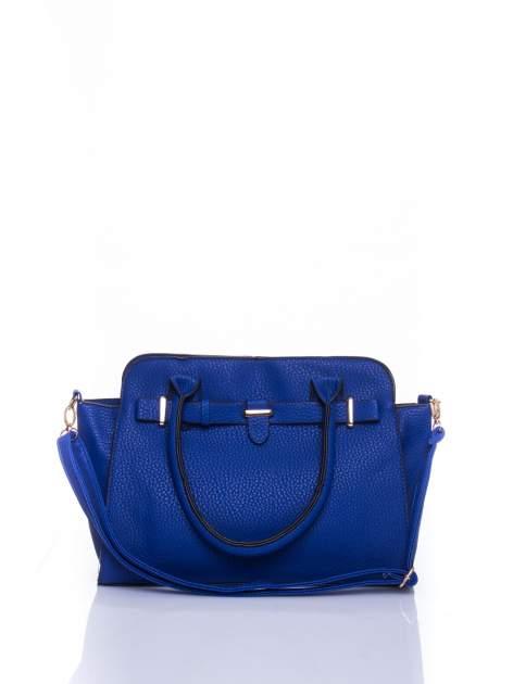 Niebieska torba shopper bag z zawieszką                                  zdj.                                  1