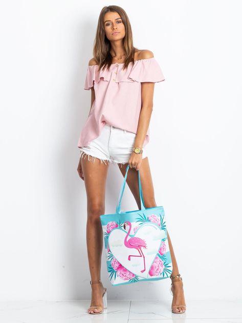 Niebieska torba z flamingiem                              zdj.                              5