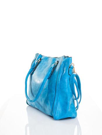 Niebieska torebka miejska                                  zdj.                                  4