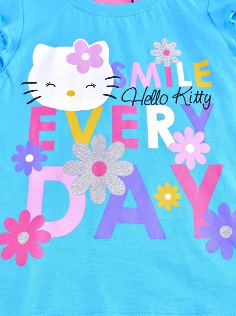 Niebieska tunika dla dziewczynki z falbankami HELLO KITTY                                   zdj.                                  3