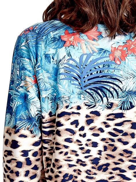 Niebieska tunika z motywem animal print                                  zdj.                                  7