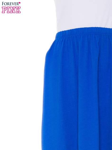 Niebieska zwiewna spódnica z dłuższym tyłem                                  zdj.                                  4