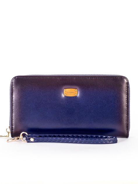 Niebieski cieniowany portfel z uchwytem