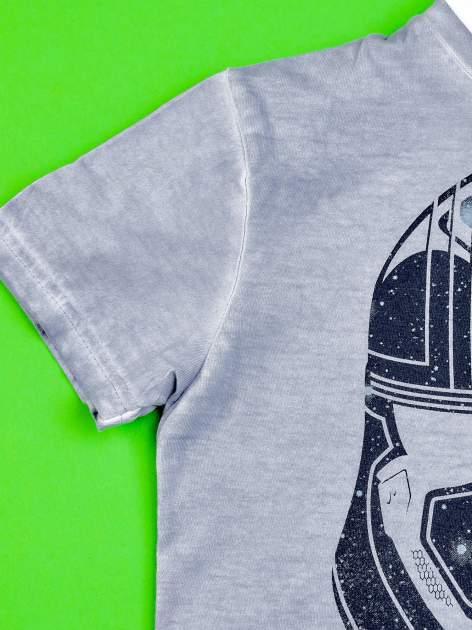 Niebieski dekatyzowany t-shirt chłopięcy STAR WARS                                  zdj.                                  3