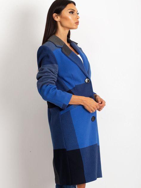 Niebieski płaszcz Geometric                              zdj.                              3