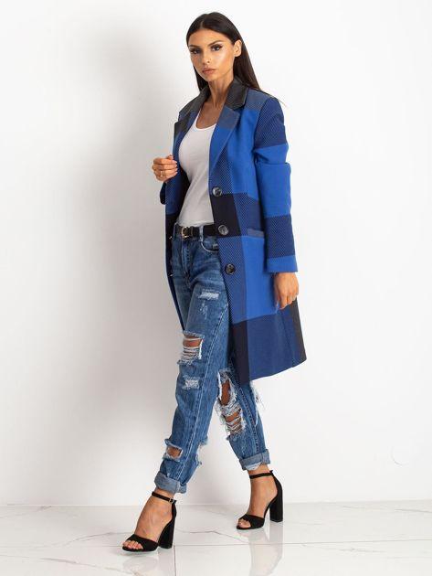 Niebieski płaszcz Geometric                              zdj.                              6