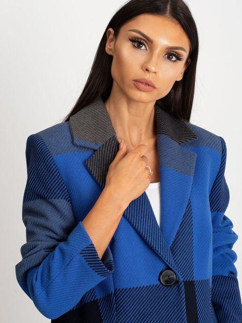 Niebieski płaszcz Geometric                              zdj.                              7