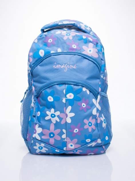 Niebieski plecak dla dziewczynki DISNEY w kwiatki                                  zdj.                                  1