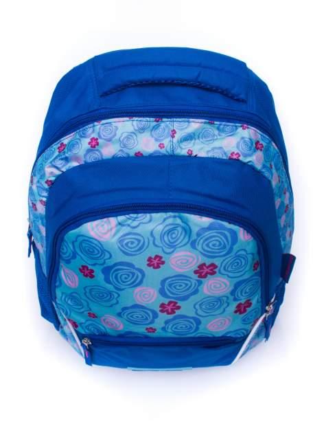 Niebieski plecak szkolny DISNEY w kwiatki                                  zdj.                                  5
