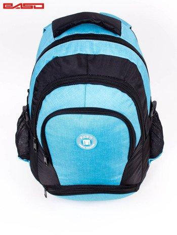 Niebieski plecak szkolny z naszywką                              zdj.                              6