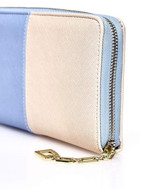 Niebieski portfel two tone z uchwytem                                  zdj.                                  5
