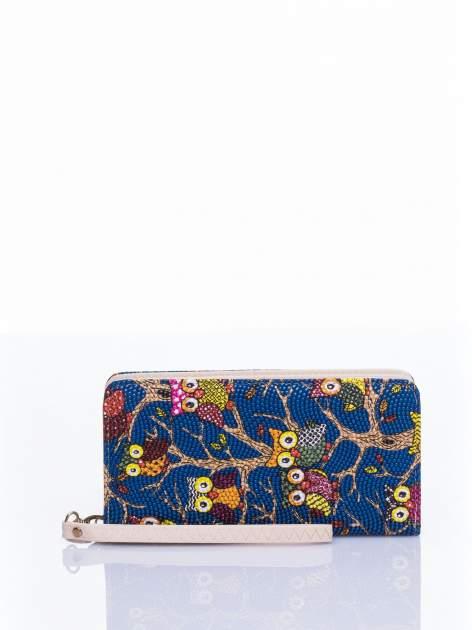 Niebieski portfel w sówki                                  zdj.                                  1