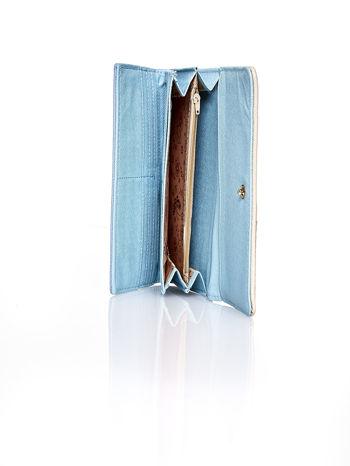 Niebieski portfel z beżowym wykończeniem                                  zdj.                                  5