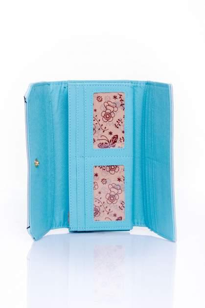 Niebieski portfel z motywem skóry aligatora                                  zdj.                                  4