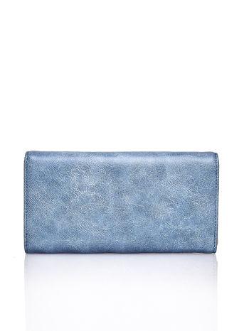 Niebieski portfel z ozdobną aplikacją                                  zdj.                                  2