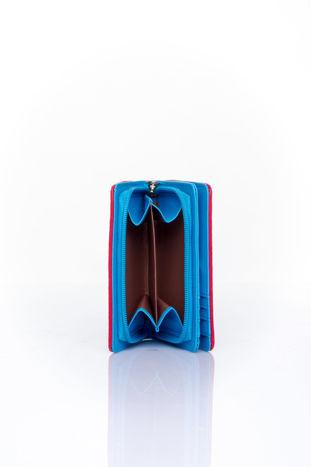 Niebieski portfel z plecionkowym wykończeniem                                  zdj.                                  4
