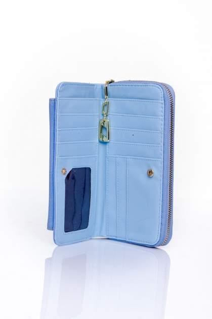 Niebieski portfel ze złotym zapięciem                                  zdj.                                  4