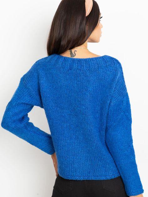 Niebieski sweter Tiffany                              zdj.                              2
