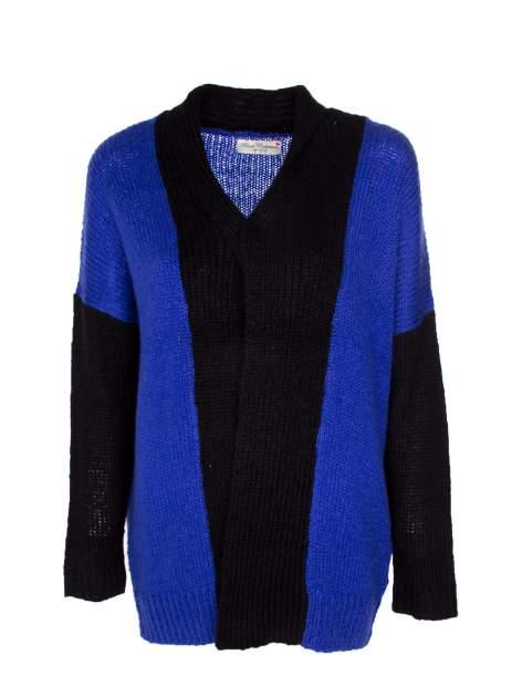 Niebieski sweter z kontrastowym pasem i rękawami                                  zdj.                                  7