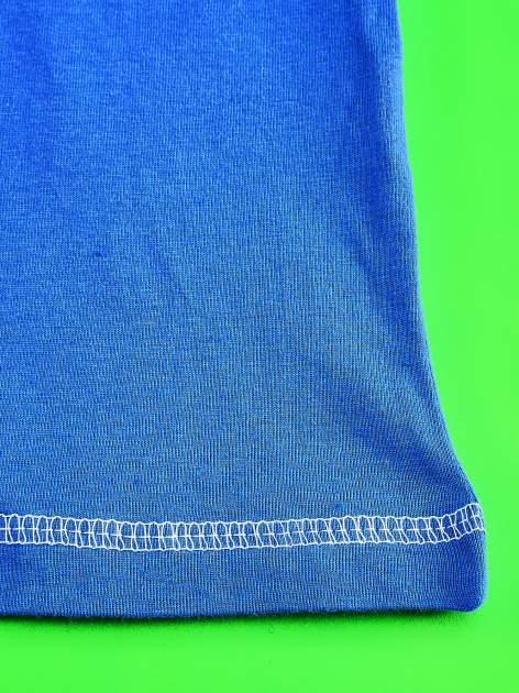 Niebieski t-shirt chłopięcy KRAINA LODU                                  zdj.                                  5