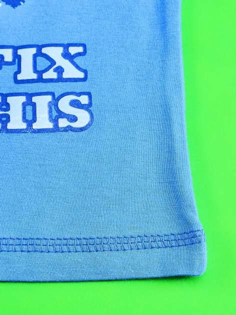 Niebieski t-shirt chłopięcy PINGWINY Z MADAGASKARU                                  zdj.                                  5