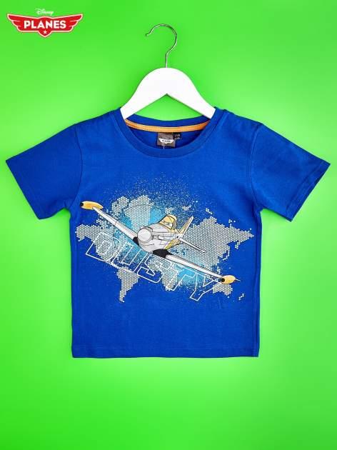 Niebieski t-shirt chłopięcy SAMOLOTY                                  zdj.                                  1