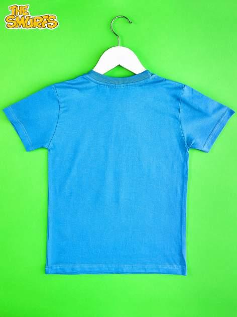 Niebieski t-shirt chłopięcy SMERFY                                  zdj.                                  2