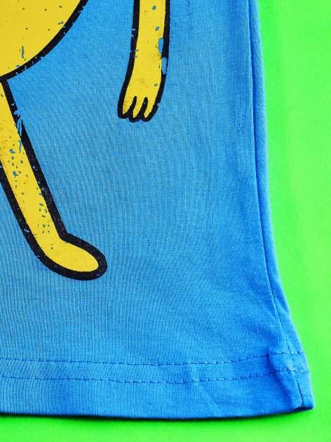 Niebieski t-shirt chłopięcy  motywem ADVENTURE TIME                                   zdj.                                  5