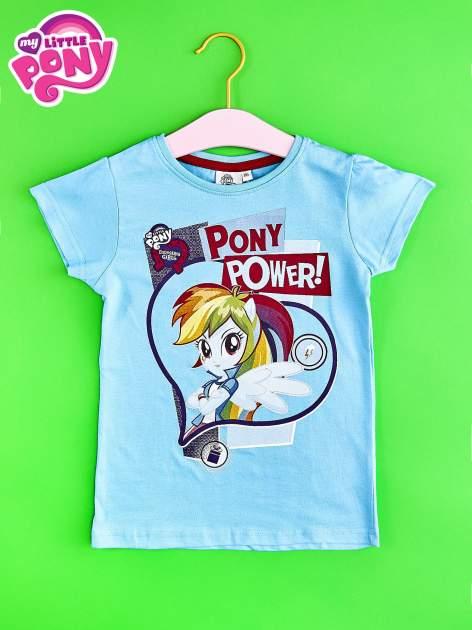 Niebieski t-shirt dla dziewczynki z nadrukiem MY LITTLE PONY                                   zdj.                                  1