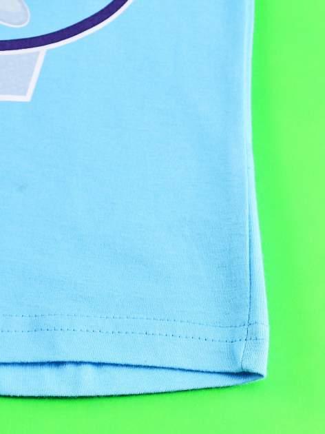 Niebieski t-shirt dla dziewczynki z nadrukiem MY LITTLE PONY                                   zdj.                                  4